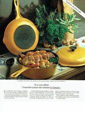 PUBLICITE ADVERTISING 0217  1978  Le Creuset casseroles en fonte émaillée
