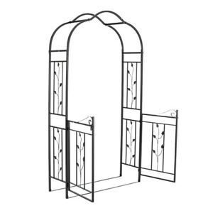 Iron Garden Arch and Gate Plant Climbing Entrance Archway Metal Heavy Duty Gates
