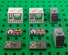*NEW* Lego Computer Bricks Key Pad Lock Dashboard Plates Buildings Space Ships