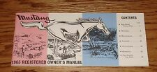 1964 1/2 Ford Mustang Owners Operators Manual 64 65