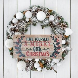 Christmas Decoration Wood Ornament Christmas Sign Tag Xmas Garden Indoor Outdoor