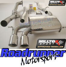 Milltek Audi S3 8P Quattro Turbo Back Exhaust System Non Res Inc Decat Downpipe