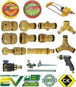CK BRASS Watering Accessories Garden Water Hose Pipe Tube Connector Fittings