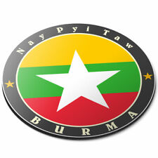 Round Mouse Mat - Burma Nay Pyi Taw Burmese Flag Office Gift #5635