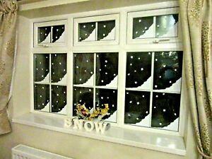 SNOW CORNERS, CHRISTMAS DECORATION, XMAS, WINDOW STICKERS 150mm x 290mm