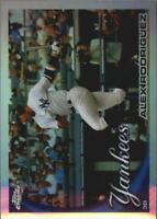 2010 Topps Chrome Baseball Refractor #144 Alex Rodriguez New York Yankees