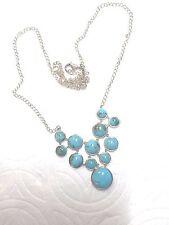 bome sterling silver+ tourquise necklass