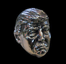 Silver Donald J Trump Ring Custom Sized American President political R-211s