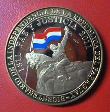 PARAGUAY MONEDA ORO NORDICO 100 Guaranies, Nueva, Proof 2011 - Bicentenario