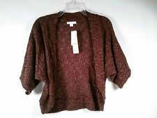 NEW W/ TAGS CHOCOLATE BROWN/ METALLIC RUST SHRUG/SWEATER FROM DRESS BARN - SMALL