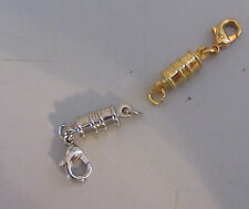 Magnetic Jewelry Clasp Total 2 Silver & Gold Necklace  or Bracelet