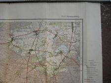 Landkarte Berlin Blatt 2 Oranienburg Landesaufnahme 1904 Wandlitz Frohnau Lübars