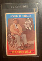 1959 Roy Campanella Topps Baseball Card # 550 Symbol Of Courage - Dodgers -