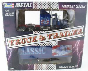 Revell 08897 - Peterbilt 359 CLASSIC + Trailer - 1:24 in OVP LKW Truck METAL