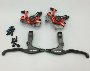 MTB Road Bike Brakes Levers Bell Brake Calipers Mechanical Disc Both sides push