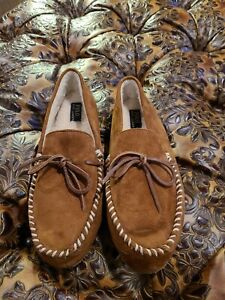 Polo Ralph Lauren Mens Brown Slippers NWOB Size 11
