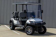 "NEW 2022 White / Gray 48V Electric Golf Cart 6"" Lifted 4 Passenger Forward"