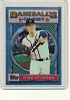 1993 Topps Finest #176 Mike Stanton Atlanta Braves