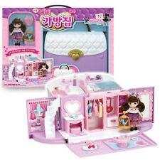 Little Mimi Bag House Toy Set Korean Barbie Doll for Girl Kids, Trasforming Hand