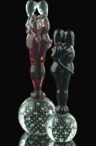 Scultura Amanti in Vetro Murano originale figurina amore Fatto a Mano in Italia