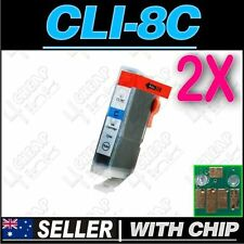 2x Cyan Ink for Canon CLI-8C iP5200 iP5200R iP5300 iP6600D iP6700D PRO9000