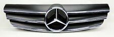 Mercedes CLK Class W209 03-09 3 Fence Front Hood Sport Black Grill Grille