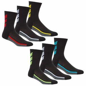 Mens Soft Cushion Sole Sports Running Football Golf Gym 3/6/12 Pairs Socks 6-11