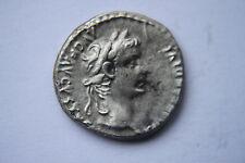 Ancient Roman TIBERIO Argento Denarius Tribute Penny 1st Moneta Centesimo ad CAESAR