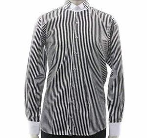 Men's Stripe Shirt Slim Fit Double Collar Cotton Sizes: M L XL Claudio Lugli