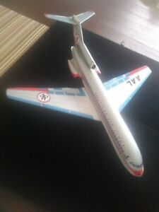 Vintage Boeing 727 Tin Airplane with Friction Motor and Original Box