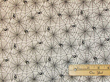 Happy Haunting Halloween Spider Webs Northcott Fabric  by the 1/2 Yard #20593