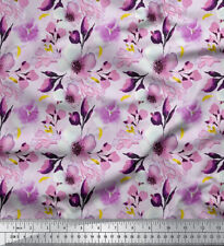Soimoi Sewing Cotton Fabric Material Floral Print 58 Inches Wide 1 Yard