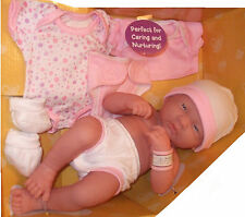 "BERENGUER LA NEWBORN 14"" BABY  GIRL DOLL +  CLOTHES"