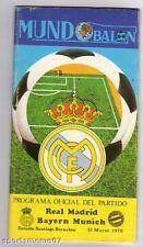 Orig.PRG    EC 1   1975/76    REAL MADRID - BAYERN MÜNCHEN  1/2 FINALE  !!  TOP