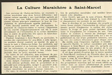 71 SAINT-MARCEL LA CULTURE MARAICHERE ARTICLE PRESSE PAR F. COULON 1924