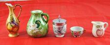 Lot of 5 Ceramic Miniatures Lefton Pitcher Tea Cup Cream Royal Worcester W3Y43