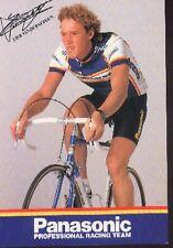 ERIK Eric VANDERAERDEN Cyclisme Team PANASONIC 86 Printed signed autograph