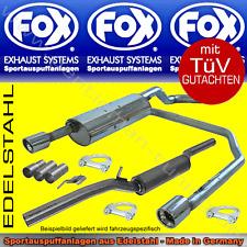 FOX AUSPUFFANLAGE Duplex VW Golf 4 R32-Look 1,4 1,6 1,8 2,0 2,3 1,9SDI/TDI 1x90