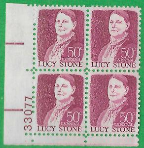 USA-United States 1968 50c Postage Lucy Stone corner block of 4 Scot 1293 MNH