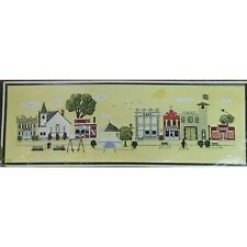 Town Square Vintage Crewel Embroidery Kit Carol Don Henning Americana Flag