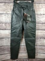 TEKNIC Women's Sturgis Leather Motorcycle Overpants Black Pants 8 USA/38 Eur NEW