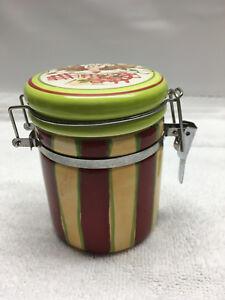 Cracker Barrel  Woman Apple Stripes  Bale Wire  Jar   Susan Winget
