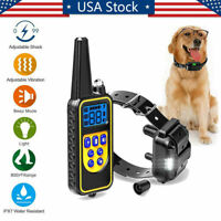 2600FT Remote Dog Shock Training Collar Rechargeable Waterproof LCD Pet Trainer