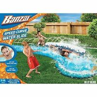BANZAI SPEED CURVE WATER SLIDE - HIGH SPEED SLIDING ACTION 16 FOOT LONG NEW
