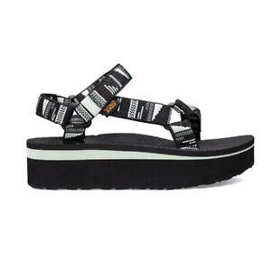 TEVA Womens Flatform Universal Chara Black Sandal (1008844-CRBLC)