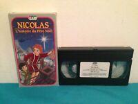 Nicolas : L'histoire du pere noel VHS tape & sleeve  FRENCH