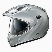 Caschi per la guida di veicoli moto argento , Taglia XS
