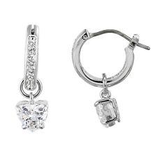 Swarovski Attract Heart Hoop Pierced Earrings
