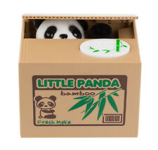 Cute Stealing Coin Money Box Hot LITTLE PANDA Piggy Bank Storage Saving Box