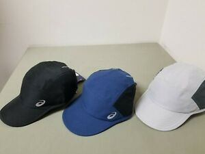 New Asics Mens Woven Adjustable Strap Cap.  3 Colors To Choose.  Retail 30.00